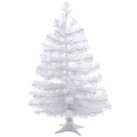 white 2ft matte Christmas tree with stand at Paperchase