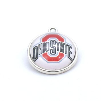 Pendant Accessories NCAA Ohio State Buckeyes Charms Accessories for Bracelet Necklace for Women Men Basketball Fans Paty