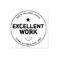 Excellent Work | Personalized Teachers Stamp