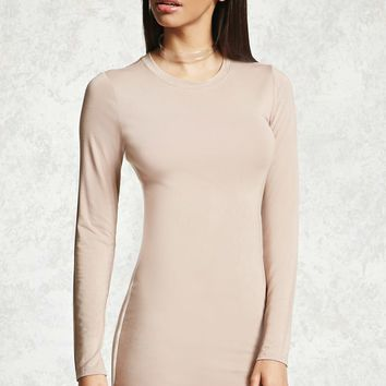 Dolphin Hem Bodycon Dress