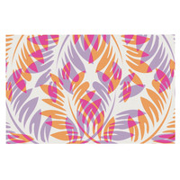 "Alison Coxon ""Summer Fern"" Pink Orange Decorative Door Mat"