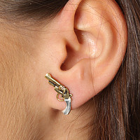 Accessories Boutique Earrings Gun Gold