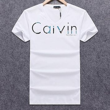 Calvin Klein Men Fashion Casual Letter Print Shirt Top Tee