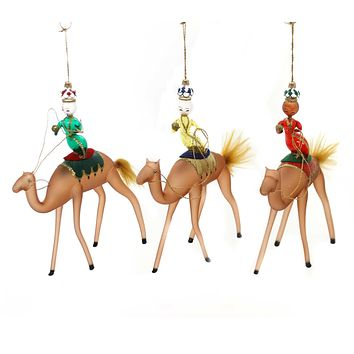 De Carlini THE THREE MAGI ON THE CAMEL Ornament Nativity Christmas Pr4370s