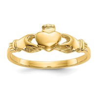 14k Yellow Gold Claddagh Baby Ring