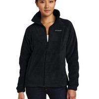 Columbia Women's Benton Springs Full Zip, Charcoal Heather, X-Small
