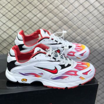 DCCK N784 Nike Zoom Streak x Supreme Flame Retro Running Shoes White Red