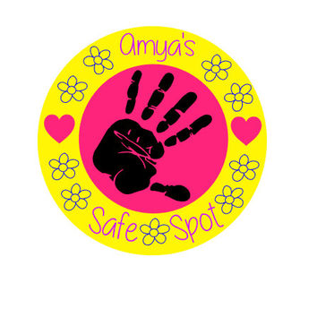 Safe spot car magnet/decal, child safety decal/magnet, hand print decal