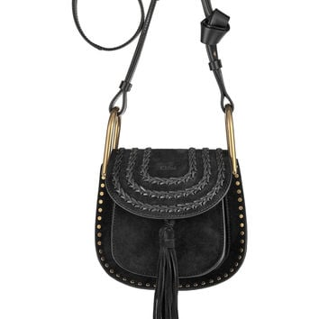 Chloé - Hudson mini whipstitched suede shoulder bag