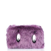 Faux Fur Makeup Bag - Bags & Purses - Bags & Accessories