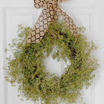 Greenery Wreath, Front Door Wreath, Indoor Wreath, Spring Wreath, Summer Wreath, Simple Wreath