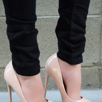 Sasha Pointed Pump - Pale Blush