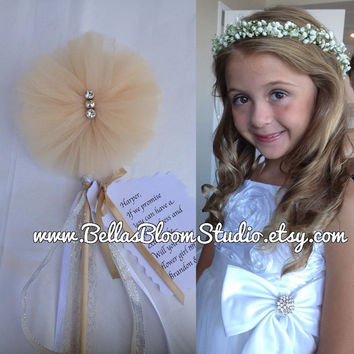 Bella's Wedding wands Flower girl wand Wedding wand Bridesmaid wand Princess wand Ivory wand Flower girl gift,Fairy wand Wedding favors etsy