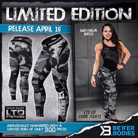 Limited Edition Grey Camo Long Tights