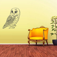 rvz1684 Wall Decal Vinyl Sticker Decals Bird Animal Owl Tree Feathers