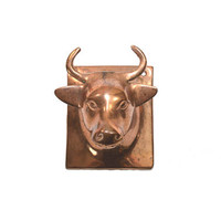 Vintage Copper Cow Hook Cow Wall Hook Rustic Cow Wall Decor Farmhouse Decor Cow Towel Hook