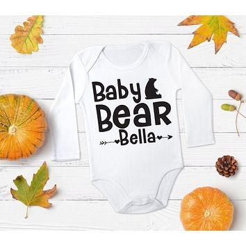 Baby Bear Custom Name Top - Bear Top for Baby