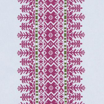 Robert Allen Fabric 228057 Aztec City Fuchsia
