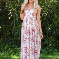 Eyes On You Open Back Floral Maxi