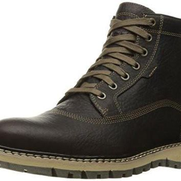 Timberland Men's Britton Hill Cap Toe Chukka WP Boot, Dark Brown Full Grain, 8.5 M US