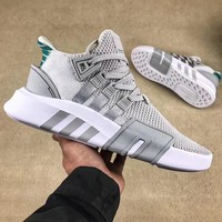 ADIDAS EQT BASK ADV Trending Women Men Sneakers Three Line Shoes B-CSXY Light grey(green tail)