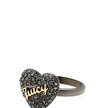 Pave Heart Cocktail Ring