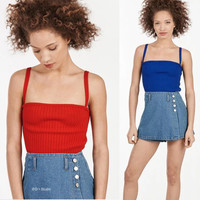 Women Brand Unif Sexy Fashion Knitted Bustier  Bra cropped  Top  Bralette Top Sexy Halter  Crop Feminino