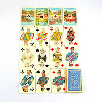 Antique Wüst Nationaal Speelkaart Wilhelmina Playing Cards in Original Box