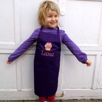 Kids Personalized Cupcake Apron - Small or Medium