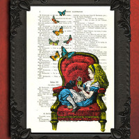 Alice in wonderland Art -  Alice in wonderland illustration - Alice in wonderland Home Decor