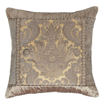 "Winter Twilight Damask-Center Pillow, 19""Sq. - Dian Austin Villa"