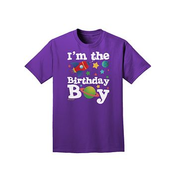 I'm the Birthday Boy - Outer Space Design Adult Dark T-Shirt by TooLoud
