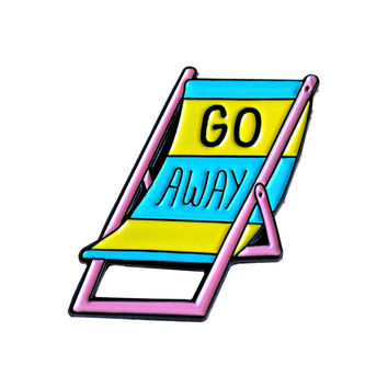 Go Away Chair Lapel Pin