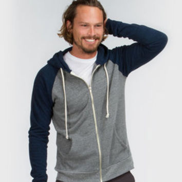 Men's Midnight Malibu Zip Front Hoody - Sustainable Materials