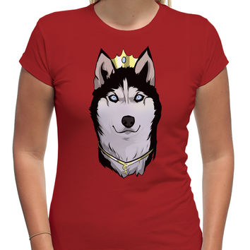 Huskey King of Dogs Cartoon Art