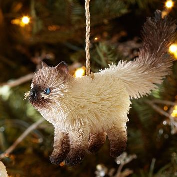 Bottlebrush Cat Ornament