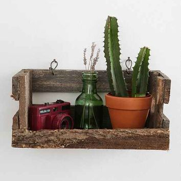 Reclaimed Wood Crate Wall Shelf
