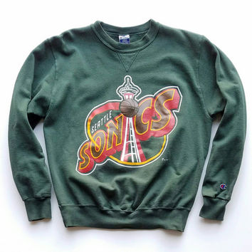 1994 Sonics Crewneck Sweatshirt, 90s Champion, Oversized Sweater, AW16 17 trend