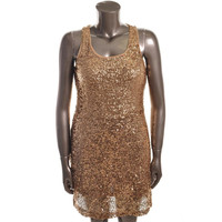 INC Womens Sequined Racerback Cocktail Dress