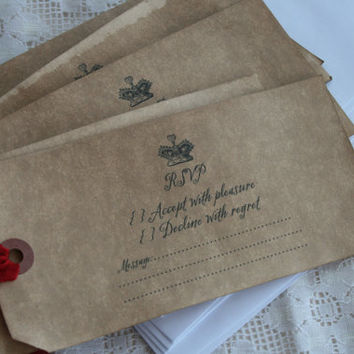 ALICE in WONDERLAND INVITATIONS - Reply Cards Only - wedding, birthday, shower - vintage style