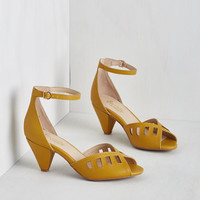 Vintage Inspired Astonish Heel in Sunflower by Seychelles from ModCloth