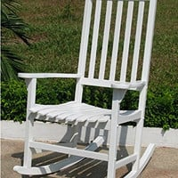 Hamptons Collection Traditional Rocking Chair White
