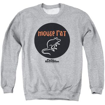 Parks & Rec - Mouse Rat Circle Adult Crewneck Sweatshirt Officially Licensed Apparel