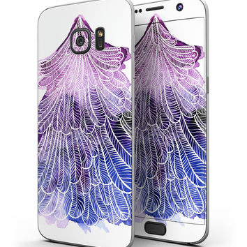 Stenciled Watercolor Evergreen Tree - Full Body Skin-Kit for the Samsung Galaxy S7 or S7 Edge