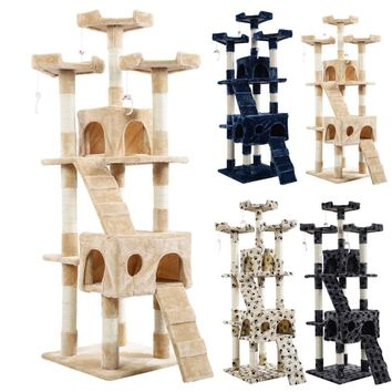 "66"" Cat Tree Tower Condo Furniture Set"