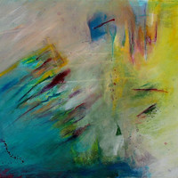 "Abstract Painting Original Canvas ""Wind Colors"""