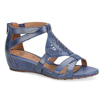Sofft Breeze Wedge Sandals - Denim Blue
