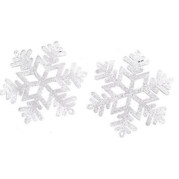 Snowflake Ornaments Christmas Tree Holiday Party Home Decor
