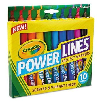 Crayola® Powerlines Washable Project Markers with Scents