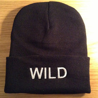 WILD Beanie in black
